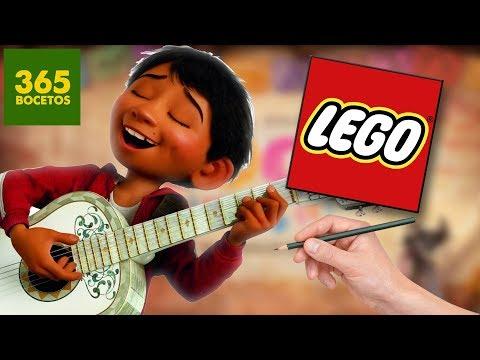 COMO DIBUJAR A MIGUEL DE COCO AL ESTILO LEGO