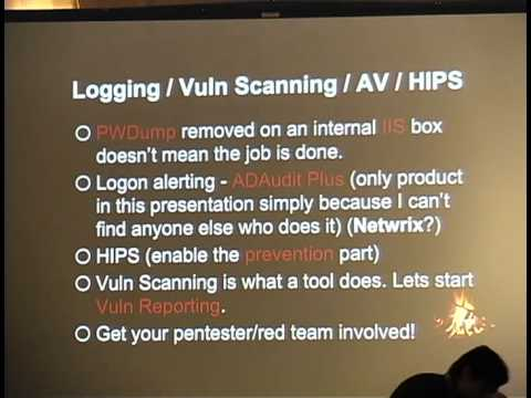 ShmooCon 2014: Attacker Ghost Stories: Mostly Free Defenses That Give Attackers Nightmares