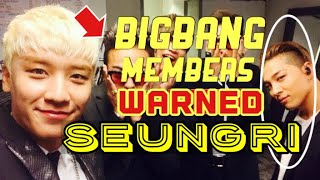BIGBANG MEMBERS WARNED SEUNGRI | VIDEO PROOF pt.3