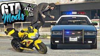 GTA V : FUGA INSANA DA POLICIA DE SUZUKI SRAD 750! DEU MUITO RUIM! : GTA 5 MODS