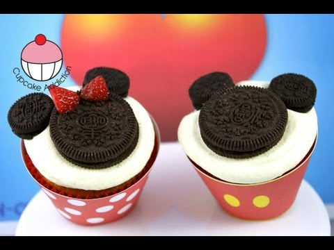 Make Super Easy Mickey Amp Minnie Mouse Cupcakes A Disney