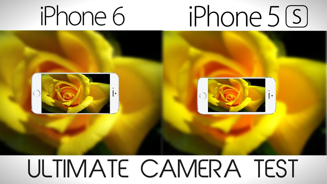 Iphone 5s vs Iphone 6 Front Camera Iphone 6 vs Iphone 5s