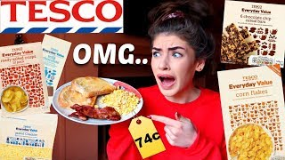 I tried the CHEAPEST food in the SUPERMARKET for 24 HOURS!!
