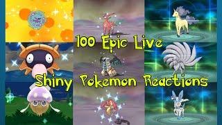 100 Epic Live Shiny Pokemon Reactions Pokemon ORAS and XY Shiny Montage