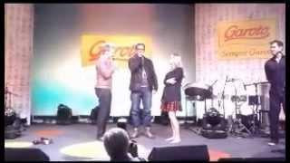 Claudinha Leitte, Michel Teló e o vencedor do concurso garoto A Música !!!