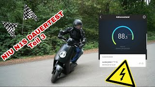 Niu N1S N Series Test Review Dauertest Teil 3 E Roller Elektro Roller E Scooter