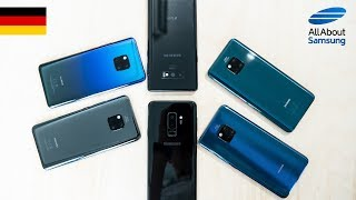 Huawei Mate 20 Pro vs Samsung Galaxy Note9 und Galaxy S9 Plus Vergleich deutsch 4k