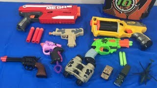 Box of Toys Toy Guns NERF Guns Toy Pistols Military Toys Box Full of Toys