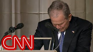 George W. Bush cries delivering eulogy for his father, George H.W. Bush (Full Eulogy)  from CNN