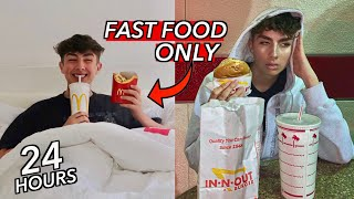 I Only Ate American FAST FOOD for 24 Hours (i look pregnant)