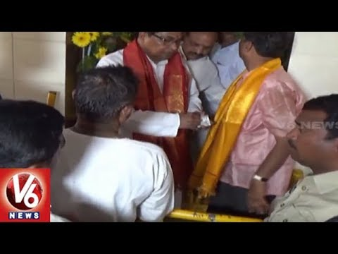 Jana Reddy Participates In Bonalu Festival Celebrations At Nagarjuna Sagar Mutyalamma Temple | V6