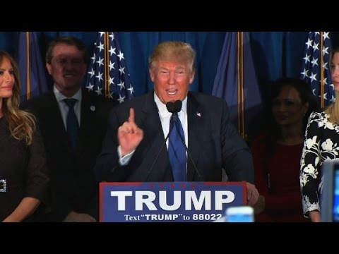 Donald Trump thanks his GOP rivals in New Hampshire