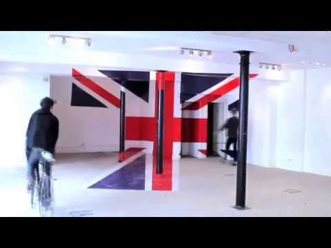 Anamorphic Union Jack - Diamond Jubilee 2012
