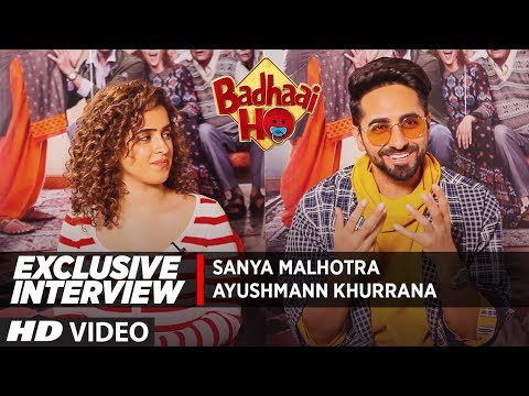 Exclusive Interview: Ayushmann Khurrana  & Sanya Malhotra | Badhaai Ho