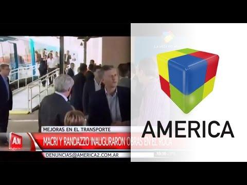 Macri inauguró obras del tren Roca junto a Randazzo y lo destacó por su gestión