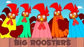 Five Big Roosters | Kids Song | Children
