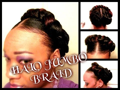 HOW TO:HALO JUMBO BRAID.......Hair Tutorial