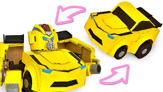 Make Your Own Transformer From Cardboard | Bumblebee