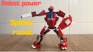 Xếp lego robot nhện 3 in 1