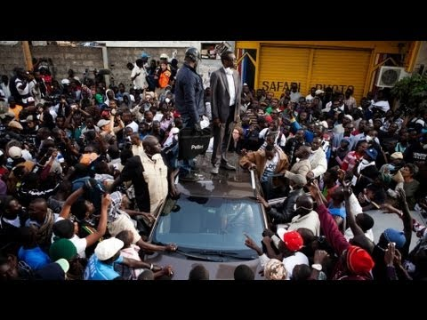 Senegal's N'Dour slightly hurt at election protest