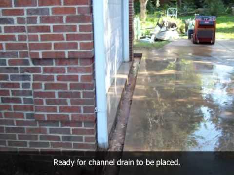 Classic Drainage, Inc. / channel drain installation. Northern Virginia