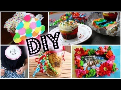 DIY Birthday Gift Ideas & Desserts!