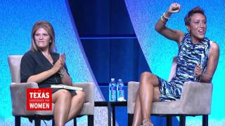 Robin Roberts with Tory Johnson at the 2015 TX Conference for Women