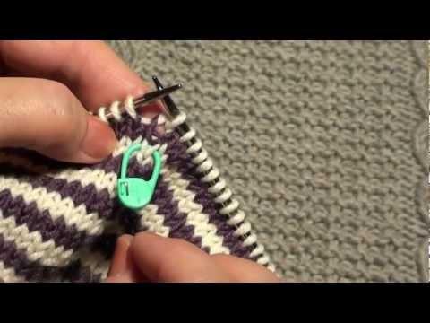 Вязание полоски по кругу