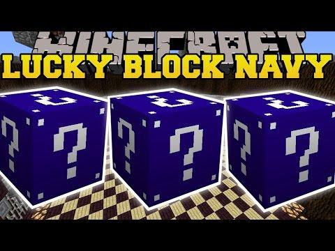 Minecraft: Navy Lucky Blocks Mod (lucky Block Tower, Armageddon Explosion, & More!) Mod Showcase video