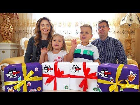 Диана и рома открывают новогодние подарки 72