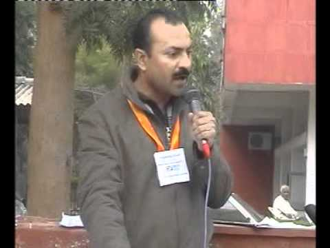 Protest against HUDA and Faridabad Neharpar Builders - Opening speech by Dharmendra Kumar