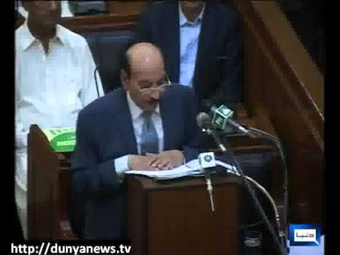 Dunya news-Sindh Session Budget-17-06-2013
