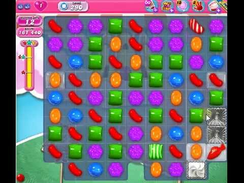 How To Beat Candy Crush Saga Level 290 - 3 Stars - No Boosters - 199