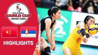 CHINA vs. SERBIA - Highlights | Women's Volleyball World Cup 2019