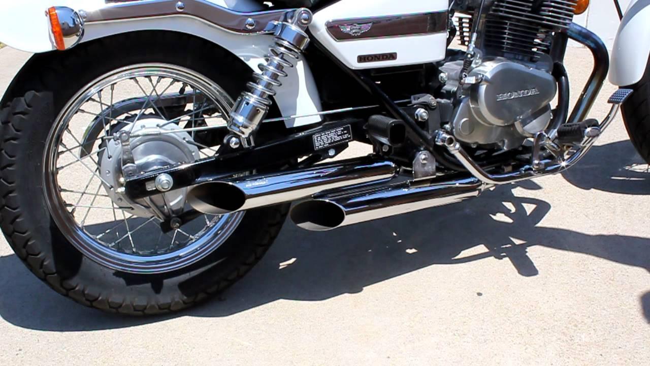 Custom Rebel 250 >> 2006 Honda Rebel 250 Jardine Slash Cut Exhaust - YouTube
