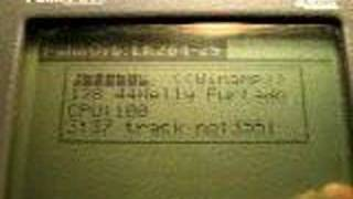 PalmOrb on Palm Pilot Professional Winamp spectrum demo