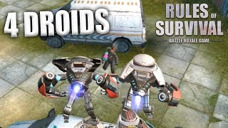 IS IT POSSIBLE TO WIN WITH 4 DROIDS ON ONE TEAM IN RULES OF SURVIVAL?!