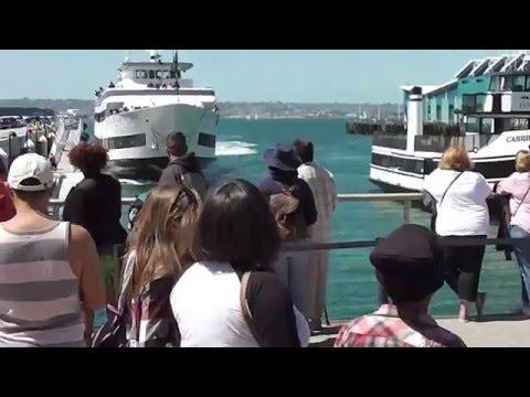 El espectacular choque de un crucero contra un muelle de San Diego
