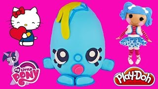 GIANT Play Doh SURPRISE EGG GOOGY SHOPKINS Barbie Minnie Mouse Hello Kitty My Little Pony