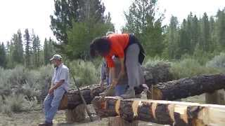 Log Hewing Class Pt 2   Campmeeting 2014   Country Living