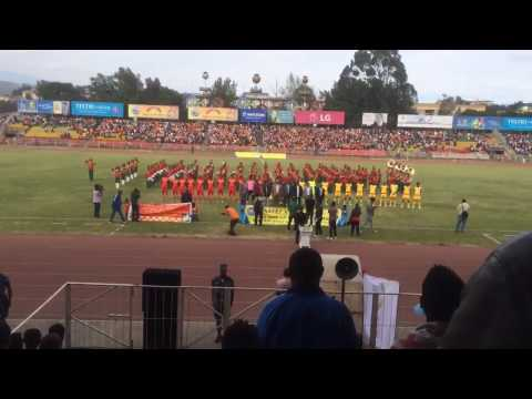 Ethiopian National Football Team Sings The National Anthem Before A Game