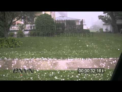 7/24/2009 Greeley, Iowa Hail Storm Video