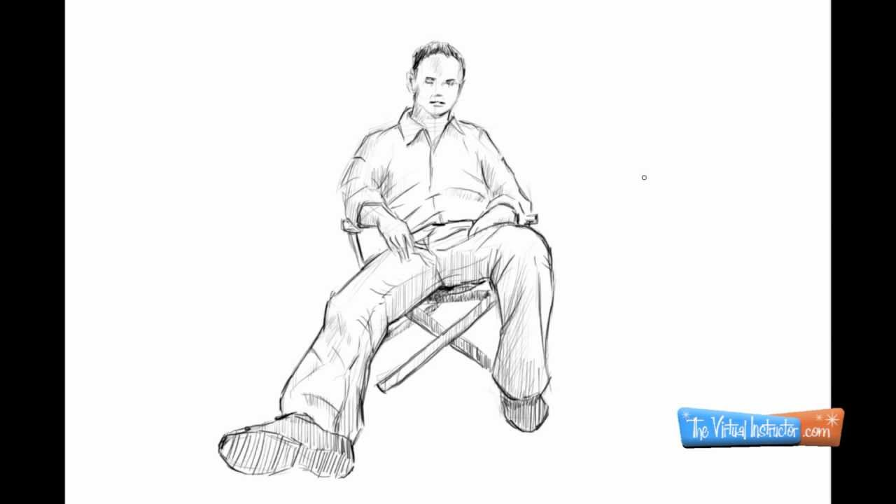Horse Sitting Drawing How to Draw a Person Sitting