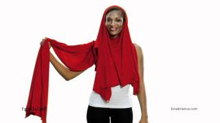 Red Headscarf Shawl - How to Make The Bina a Headscarf