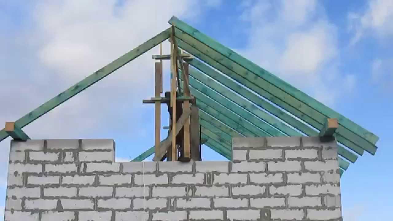 Как сделать двускатную крышу для гаража 175