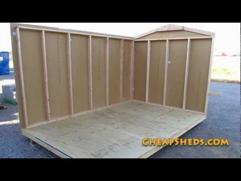 Raising And Attaching Your Storage Shed Walls Video Youtube