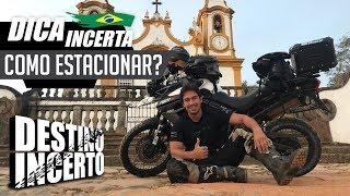Como estacionar a moto