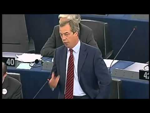 UKIP Nigel Farage takes on Jose Manuel Barroso   September 2012