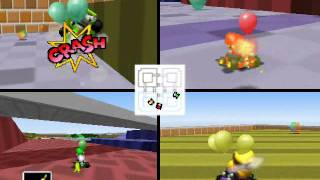 Mario Kart 64 Netplay Battle: Block Fort