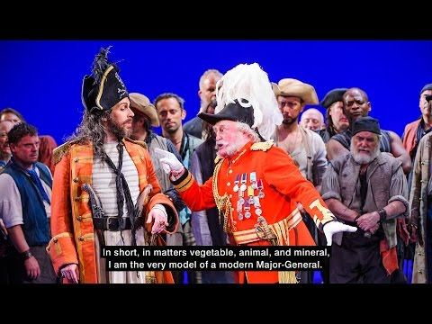MajorGenerals Song from The Pirates of Penzance   and with lyrics!